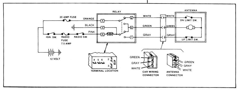power antenna wiring diagram for 1979 gmc light duty truck