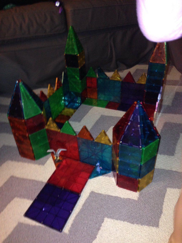 Symmetrical Magna Tiles Castle Kid Activities Indoor Activities