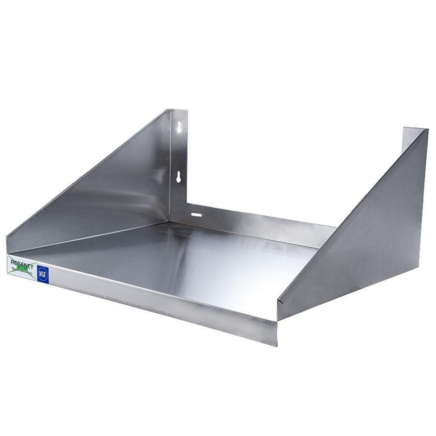 "Kitchen Shelf Above Stove: Regency 24"" X 18"" Stainless Steel Microwave Shelf"