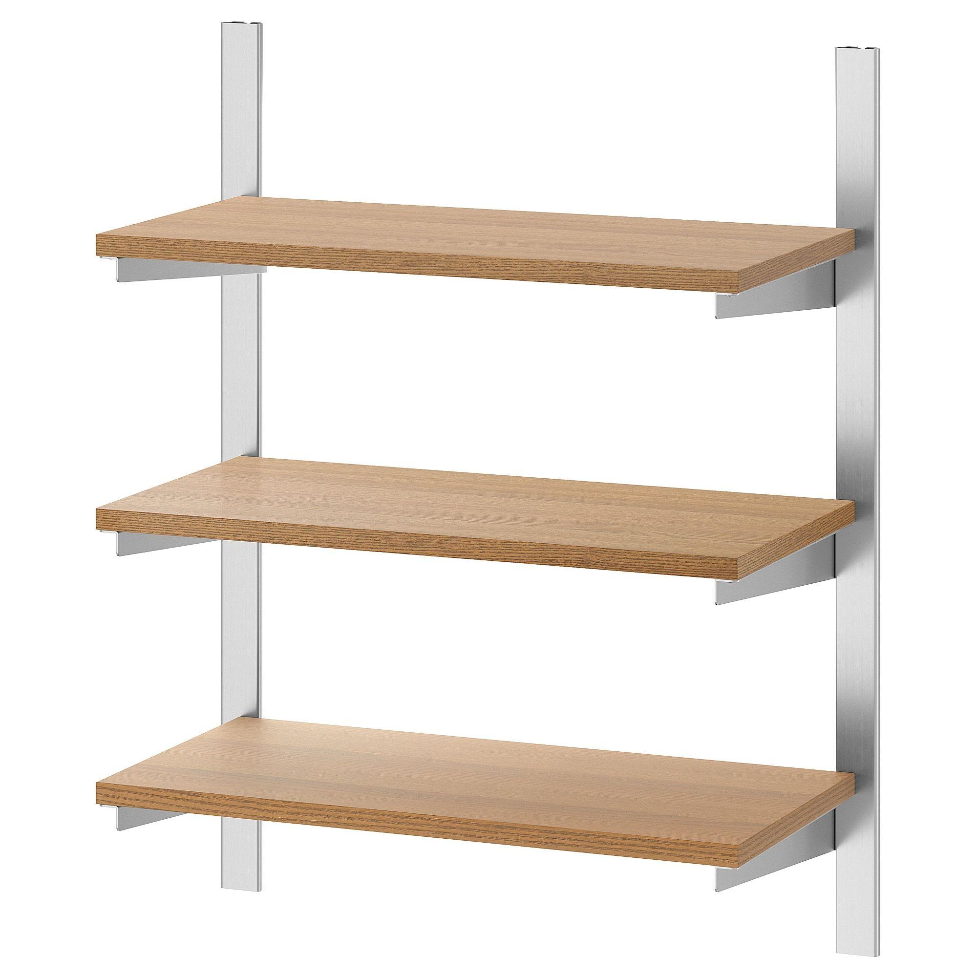 Kungsfors Aufhangeschiene Boden Edelstahl Esche Ikea Deutschland In 2020 Korbe An Wand Edelstahl Bambus