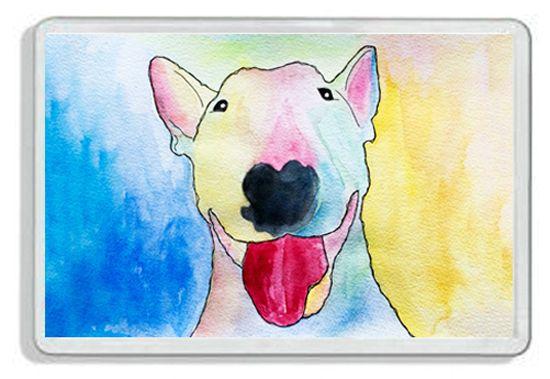 ENGLISH BULL TERRIER  DOG  FRIDGE MAGNET BRAND NEW + FREE GIFT TAG
