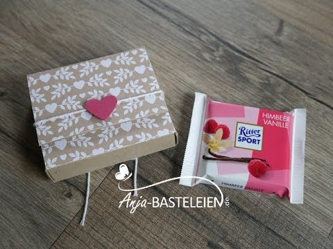 Ritter Sport Mini Verpackung mit dem Flower Punch Board von We R Memory Keepers - YouTube