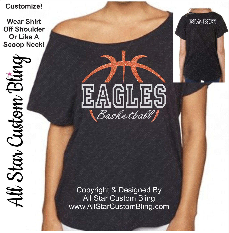 edaddbfb65a Basketball Team Mascot Glitter Dolman Shirt