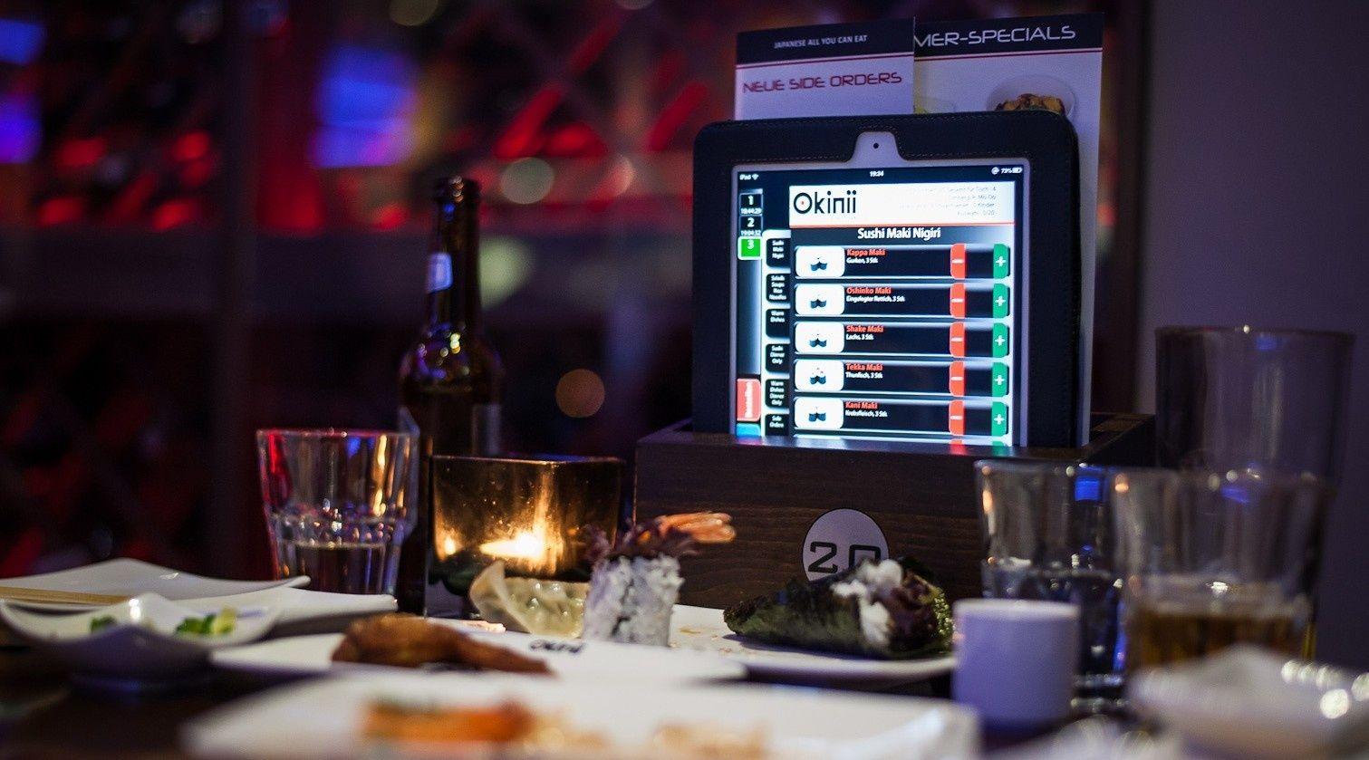 Tisch reservieren und Sushi bestellen per iPad. All You