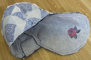 Free Sewing Pattern for a Saddlebag Style Pocketbook: Sew and Attach the Lining