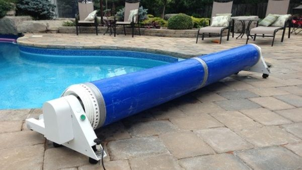 The Pool Cover Is Total Hand Free Trackless No Manual Cranking So You Don T Need To Give More Time To Your Pool Cover Automatic Pool Cover Pool Cover Roller
