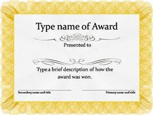 Awards Certificates Templates Free Download  Bing Images  Award