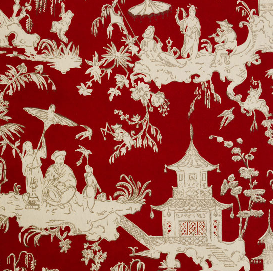 Pagoda wallpaper looks like our front hallway growing up chinoiserie wallpaperwall wallpaperchinoiserie chicred
