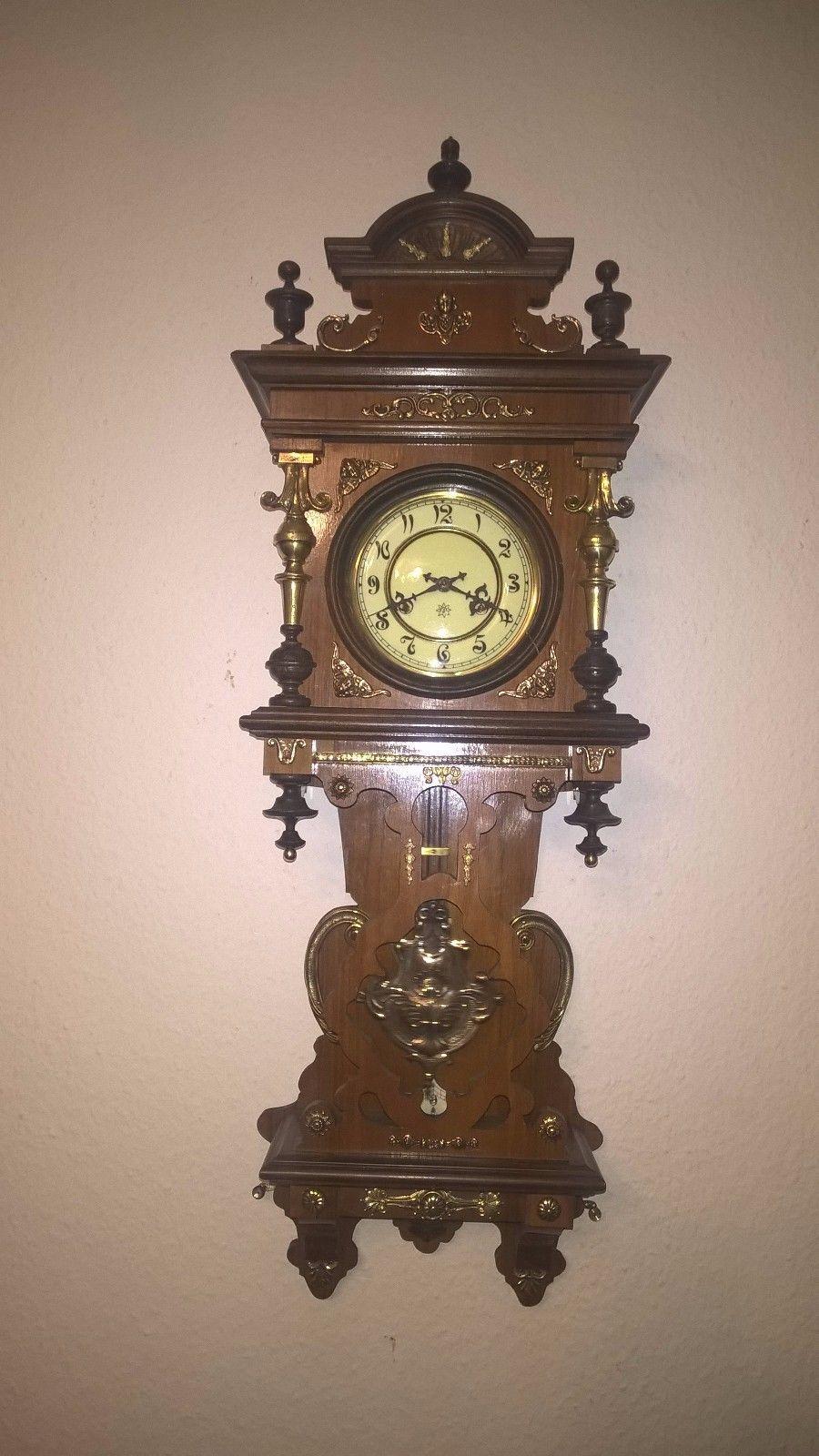 Seltene Wanduhr Von Junghans Mit Holz Und Bronze Foto Einschauen Antiquitäten Kunst Mobiliar Interieur Uhren Ebay Wanduhr Vintage Uhren Uhrideen