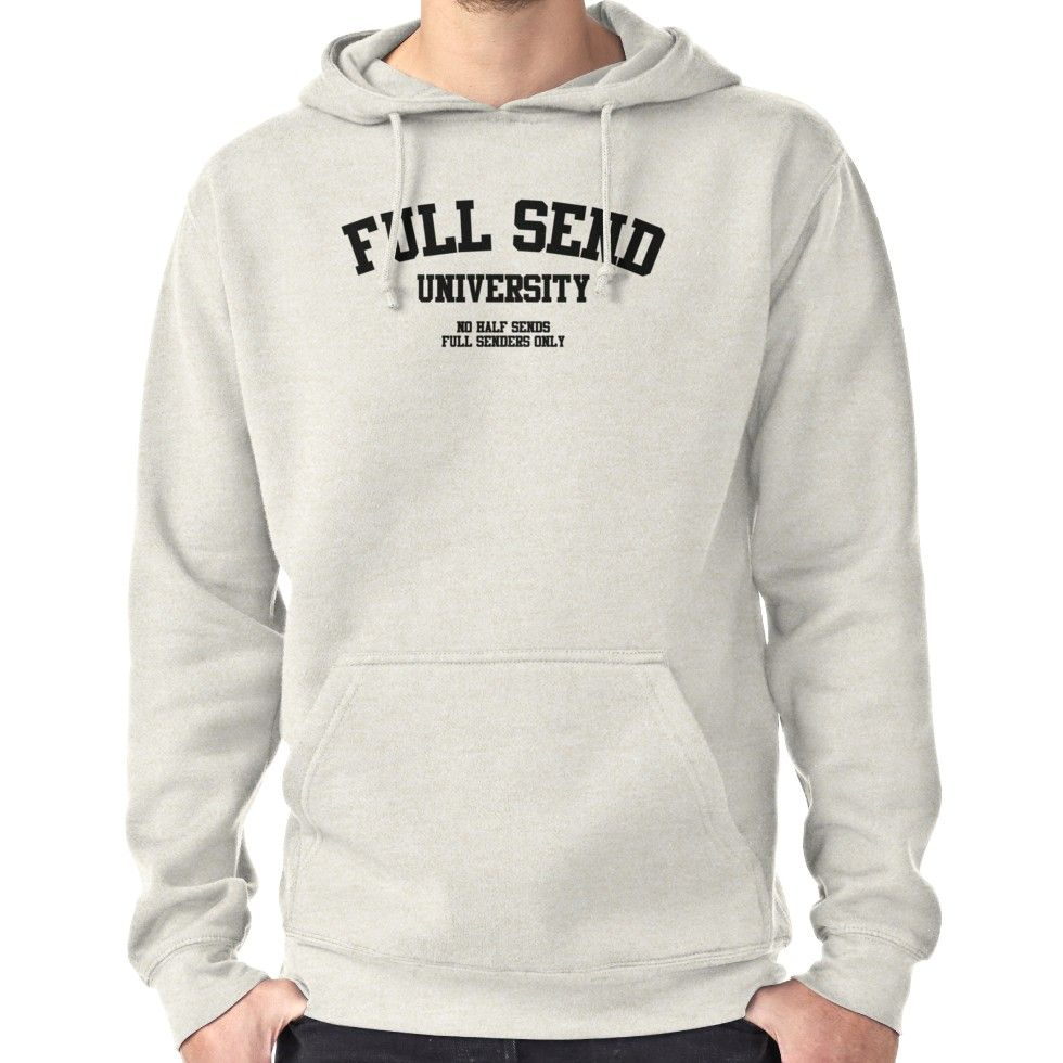 Nelk Boys - Full Send University No Half Sends | Pullover Hoodie in
