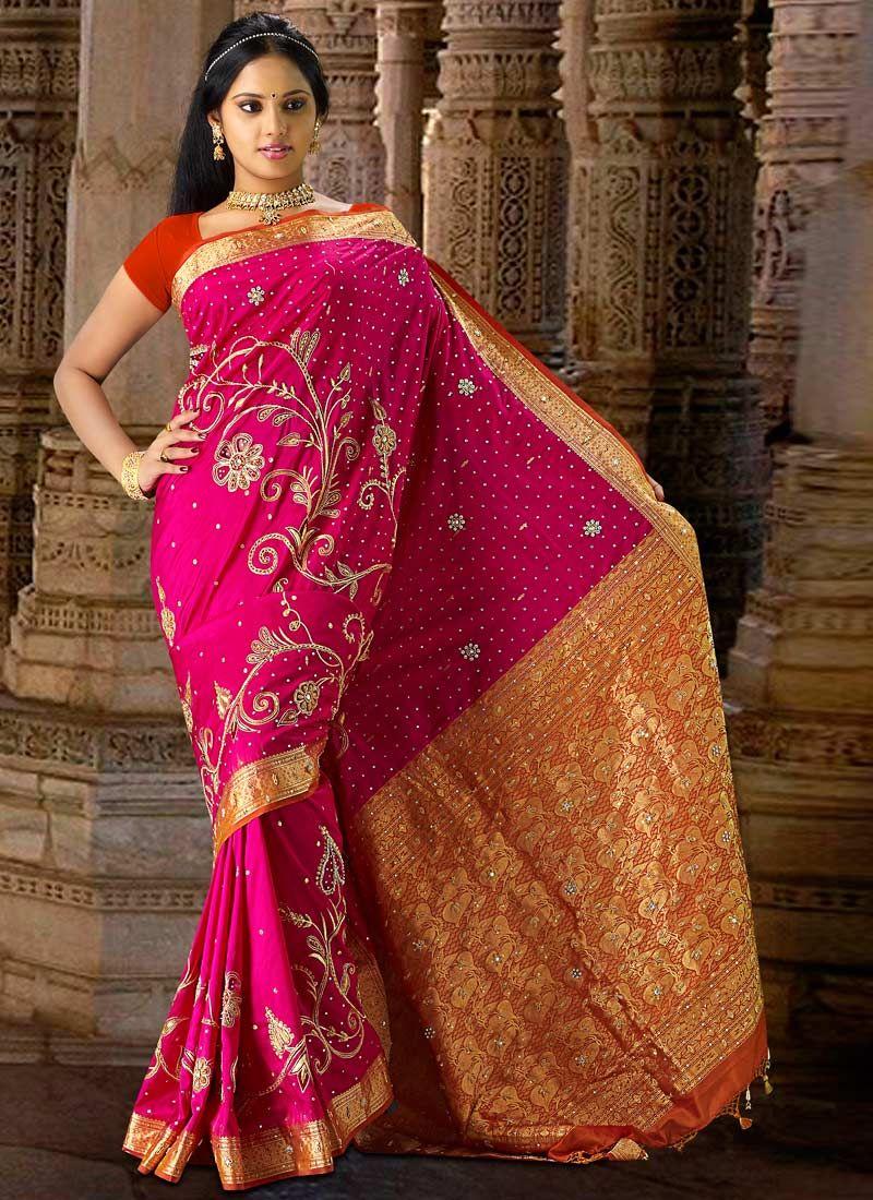 Pure silk saree stunning magenta pure silk saree  fhoq  pinterest  pure silk sarees
