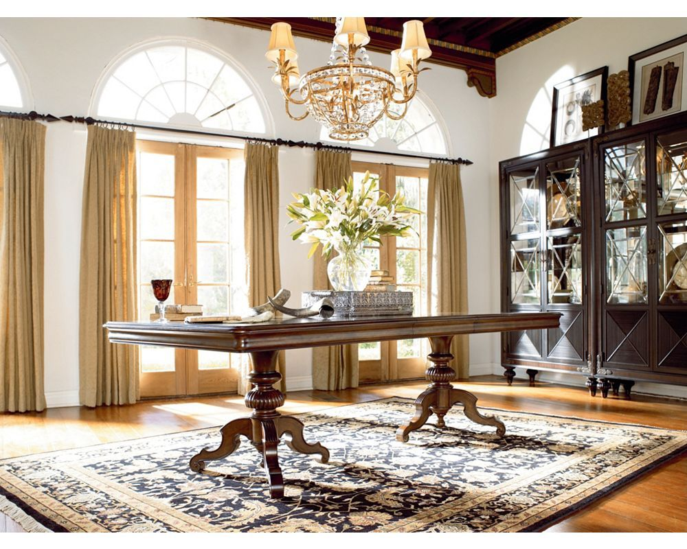 Castillian Double Pedestal Table Dining Room Furniture Thomasville Furniture Pedestal Table Thomasville Furniture Beautiful Furniture #thomasville #living #room #furniture