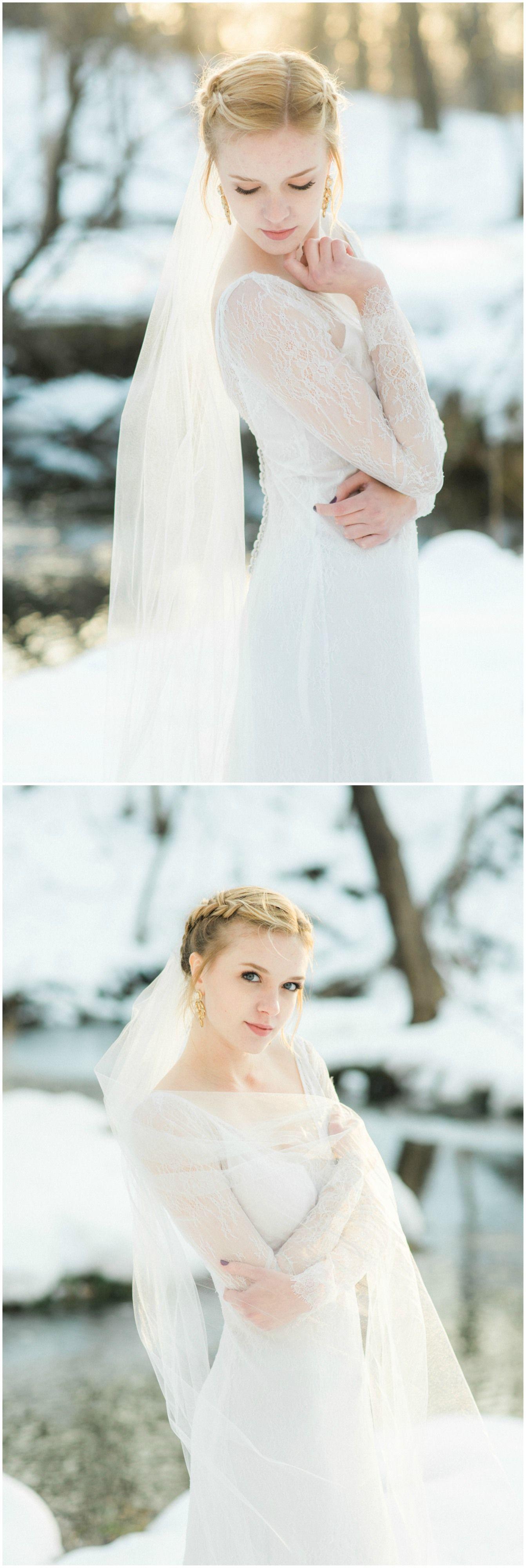 Longsleeve lace traditional yet modern wedding gown feminine