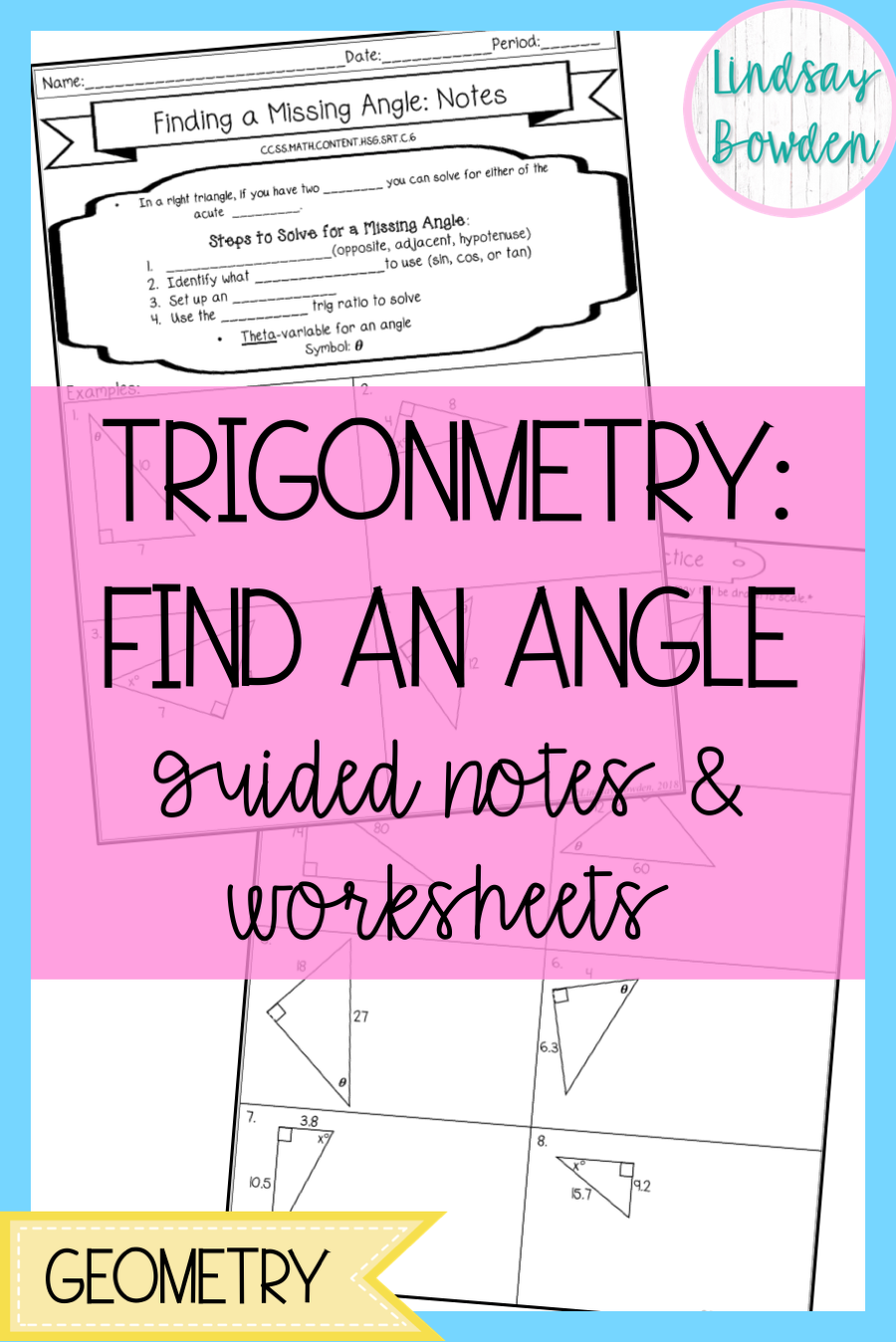 Right Triangle Trigonometry Find a Missing Angle Guided