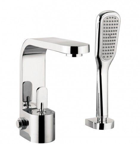 Crosswater Curve Bath Shower Mixer Monobloc With Kit