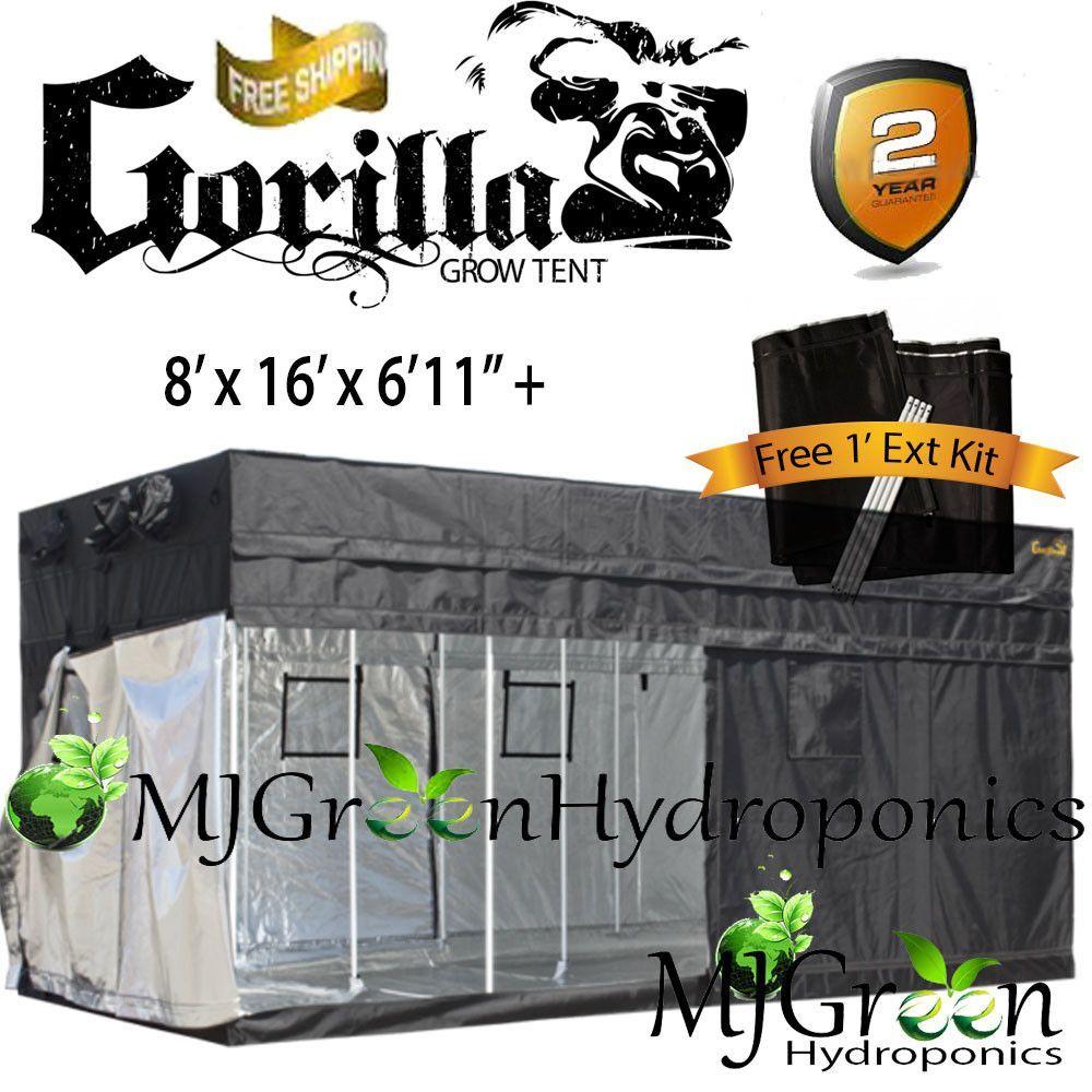 Gorilla Grow Tent  Choose Size  sc 1 st  Pinterest & Gorilla Grow Tent OG w/ FREE 1u0027 Height Ext Kit : Choose Size ...