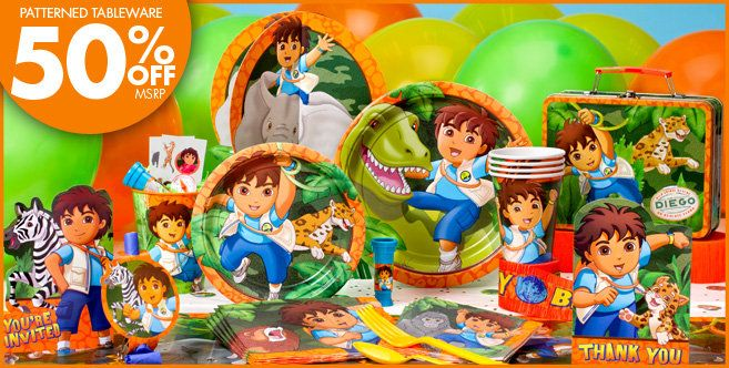 Go Diego Go Party Supplies - Go Diego Go Birthday - Party City
