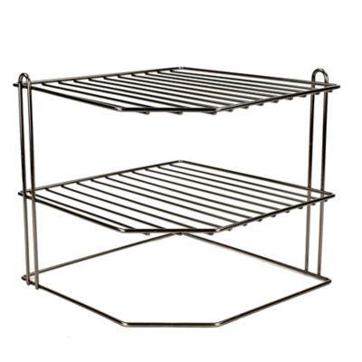 home basics 3 tier corner rack wire organizer in onyx corner rack home basics steel racks 3 tier corner rack wire organizer in