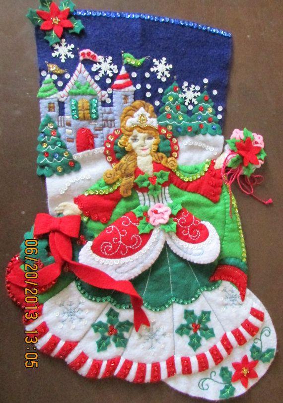 "Bucilla /""MUST BE SANTA/"" Felt Christmas Advent Calendar Kit-Factory Direct OOP"
