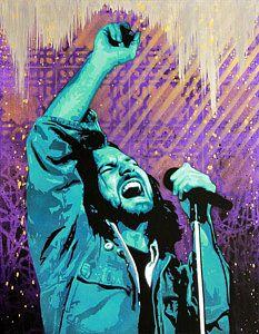 Eddie Vedder Painting Even Flow By Bobby Zeik Art Pop Art Eddie Vedder