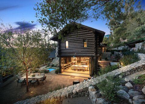 Log cabin, modern style