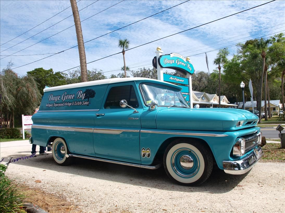 Own a vintage panel truck this is a 1966 chevy
