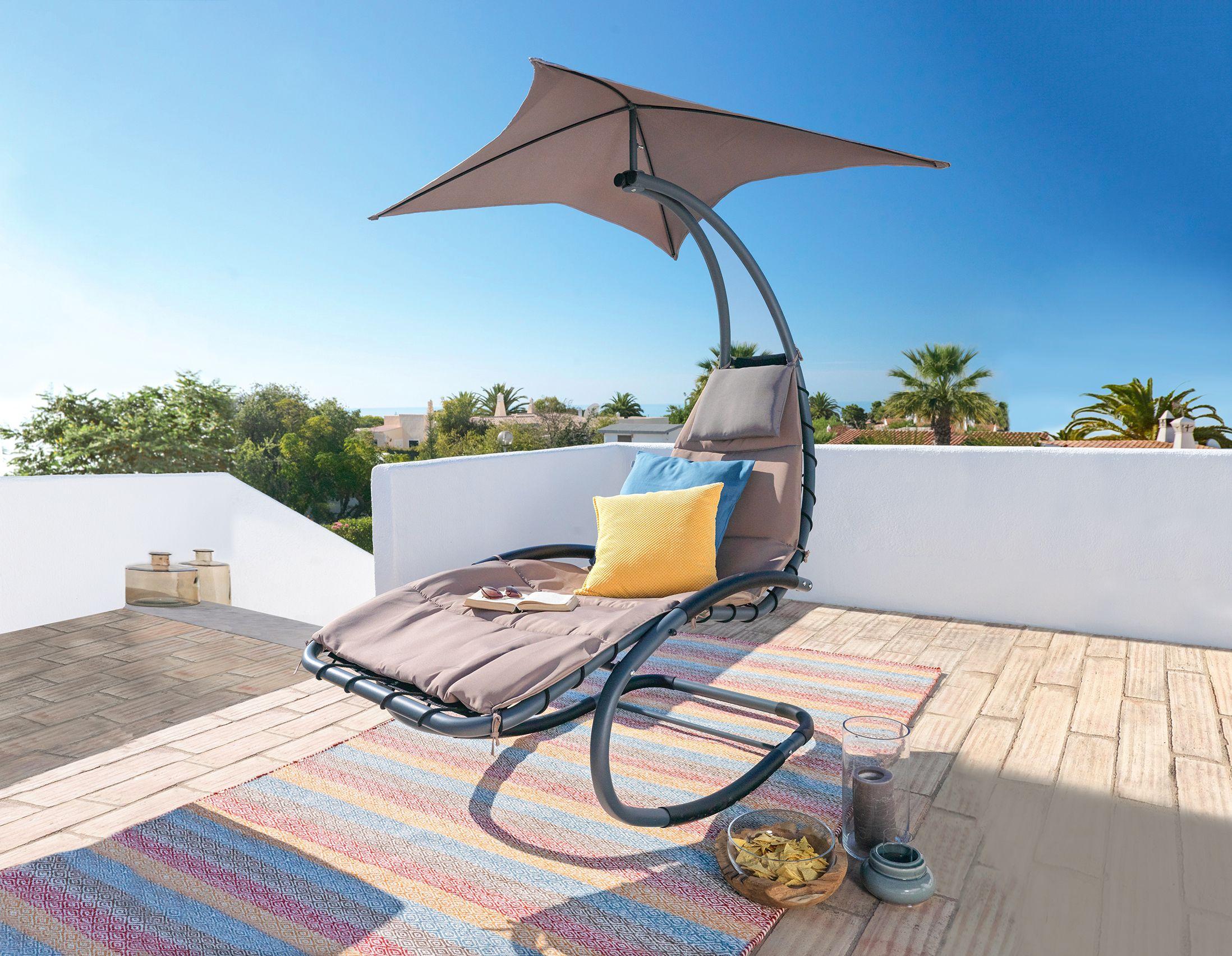 Schaukel Liege Mit Sonnendach   Entspannung Garantiert   Garten Möbel Ideen