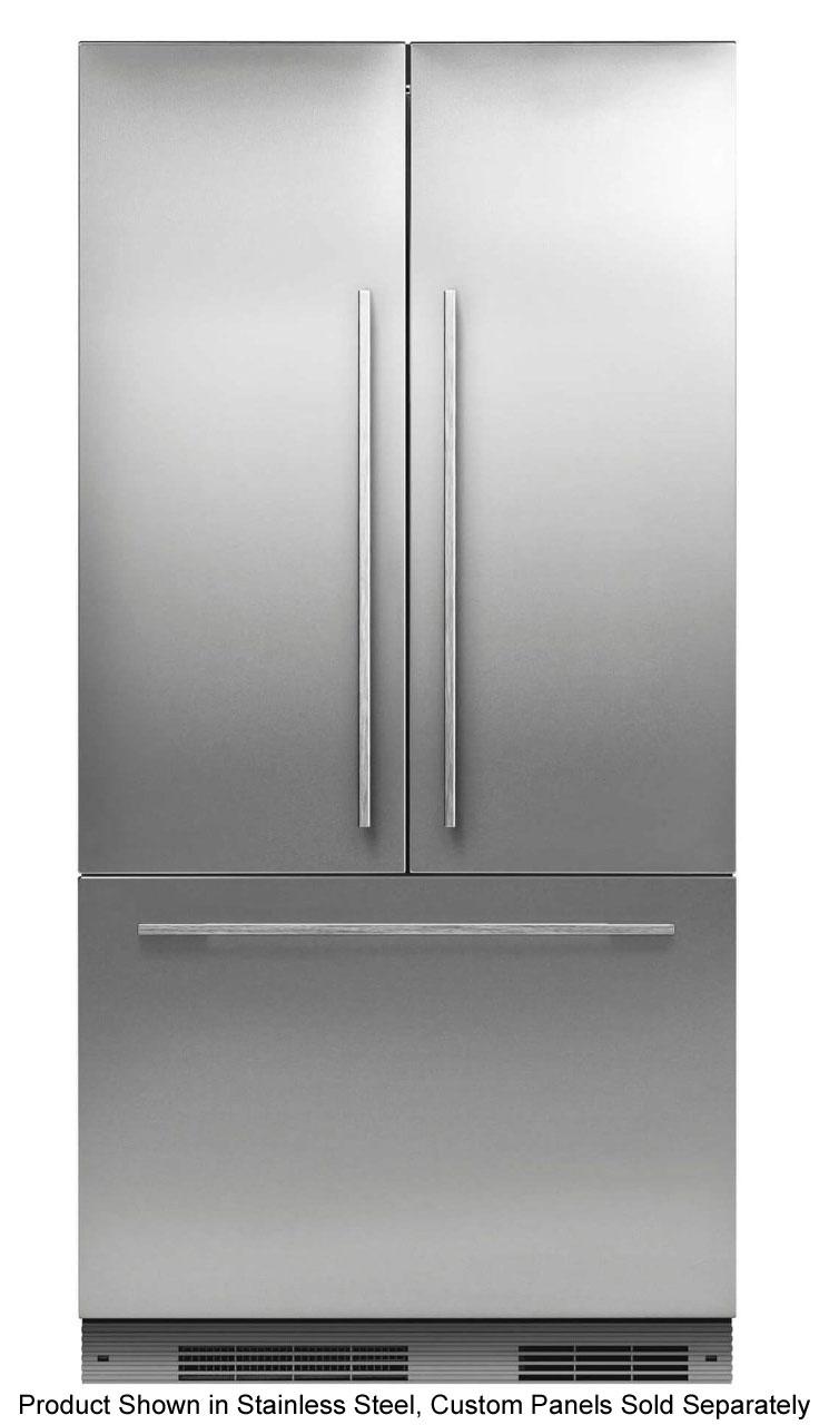 Fisher Paykel Panel Ready Built In French Door Refrigerator Stainless Steel Doors French Door Refrigerator French Doors