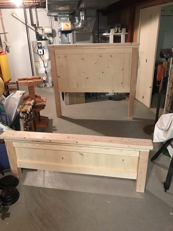 Diy farmhouse bed stepbystep instructions chisel