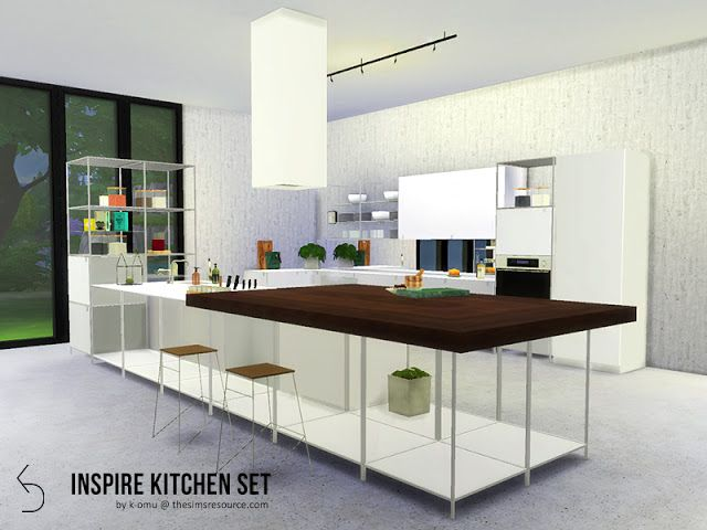 Sims 4 CC\'s - The Best: INSPIRE Kitchen Set by k-omu | sims ...