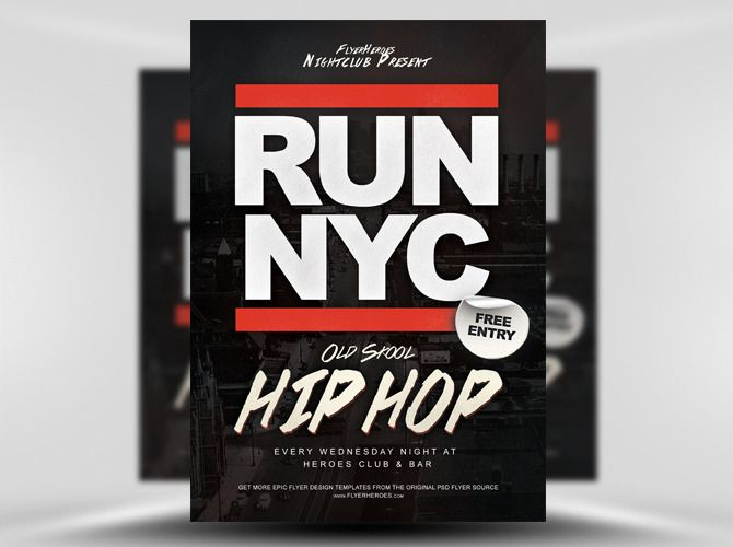 Run Nyc Free Hip Hop Flyer Template HttpsNoobworxComStoreRun