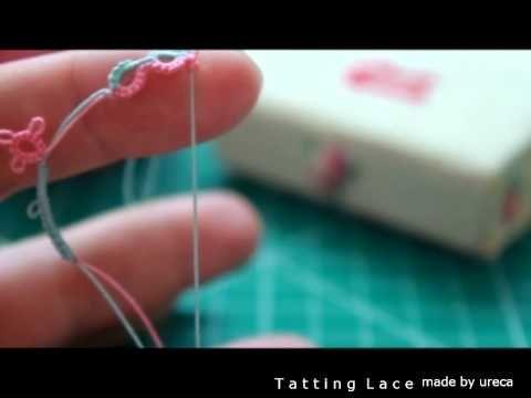 [tatting lace] 태팅레이스 스프릿링만들기 split ring/SR기법 - YouTube