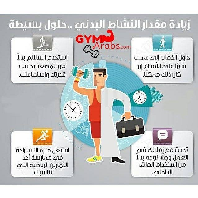 Gym Arabs On Instagram حلول بسيطة لزيادة النشاط البدني فيتنس جيم طاقة قوة معلومات جيم العرب رياضة كمال الأجسام نصائح Gym Family Guy Instagram Posts