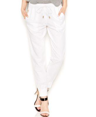 GUESS High-Waist Taper Pants | macys.com