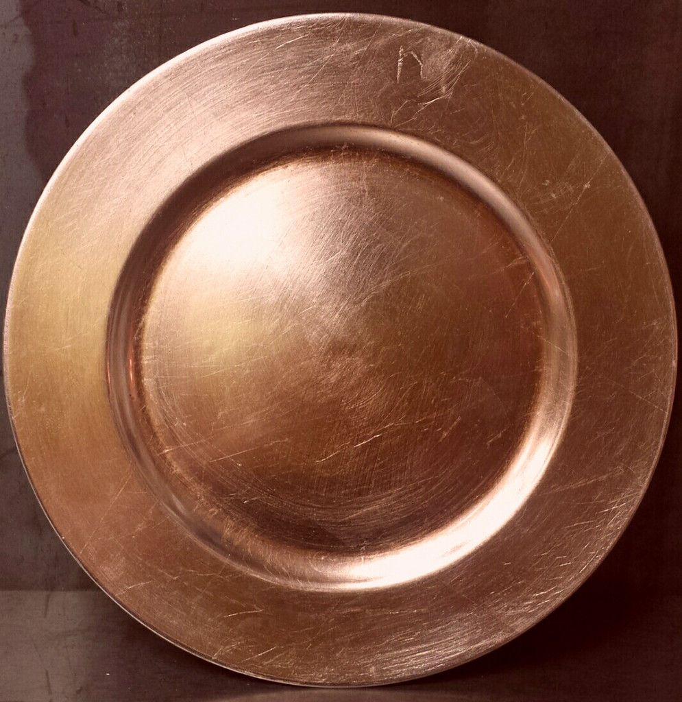 Charger Plate Rose Gold 4A53 Wedding PlatesTable WeddingWedding ReceptionWedding