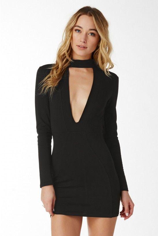 Drive Em' Crazy Mini Dress in Black | Necessary Clothing