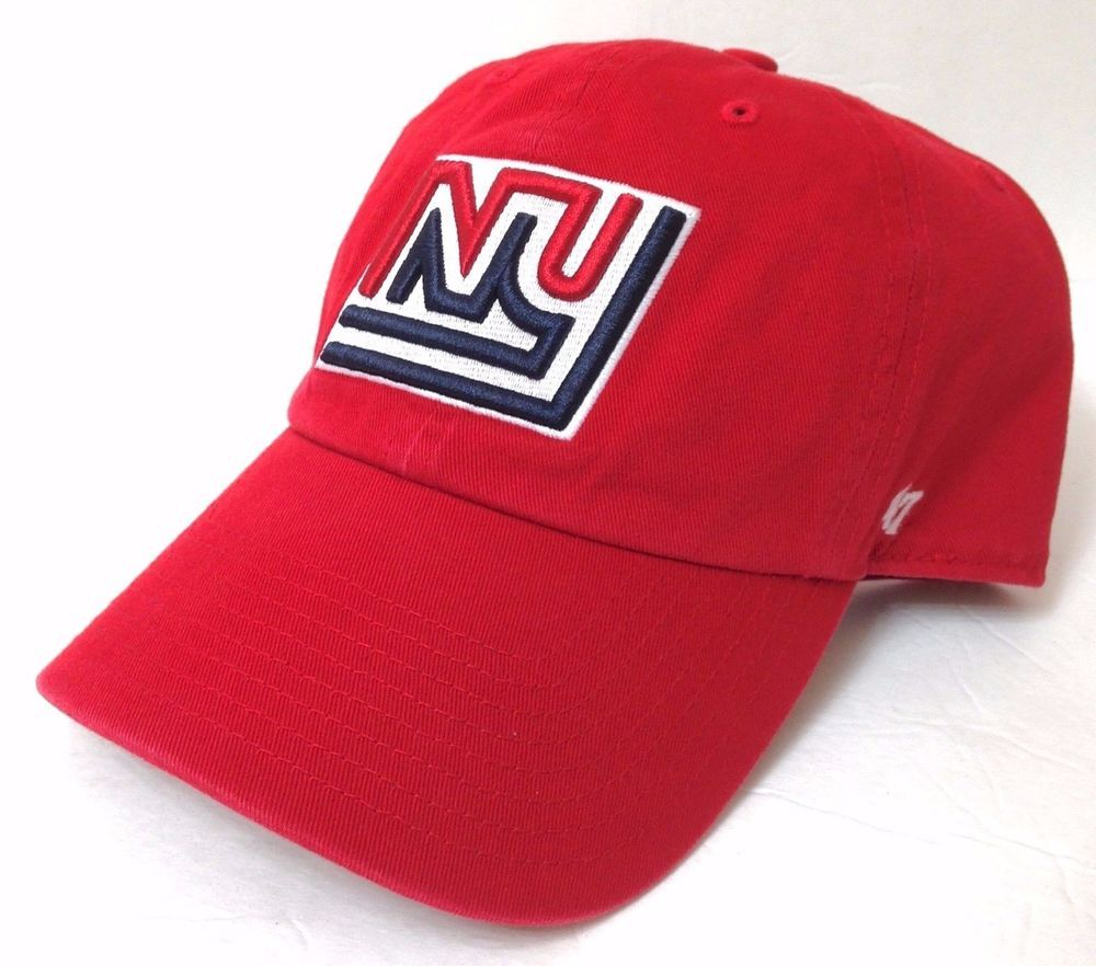 1b3fc710c4e55 new 25 NEW YORK GIANTS 1975-LOGO HAT Relaxed-Fit Dad Cotton Adjustable  Men Women  47Brand  NewYorkGiants