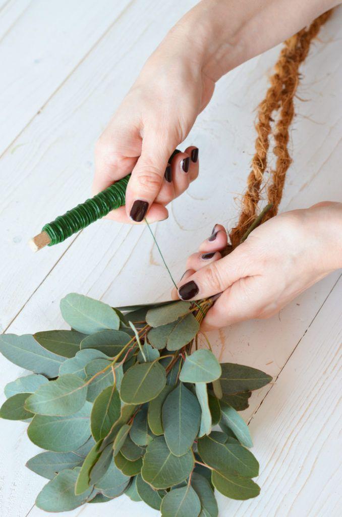 Eukalyptus-Hochzeit – Teil 2: Tischgirlande selber binden #garlandofflowers