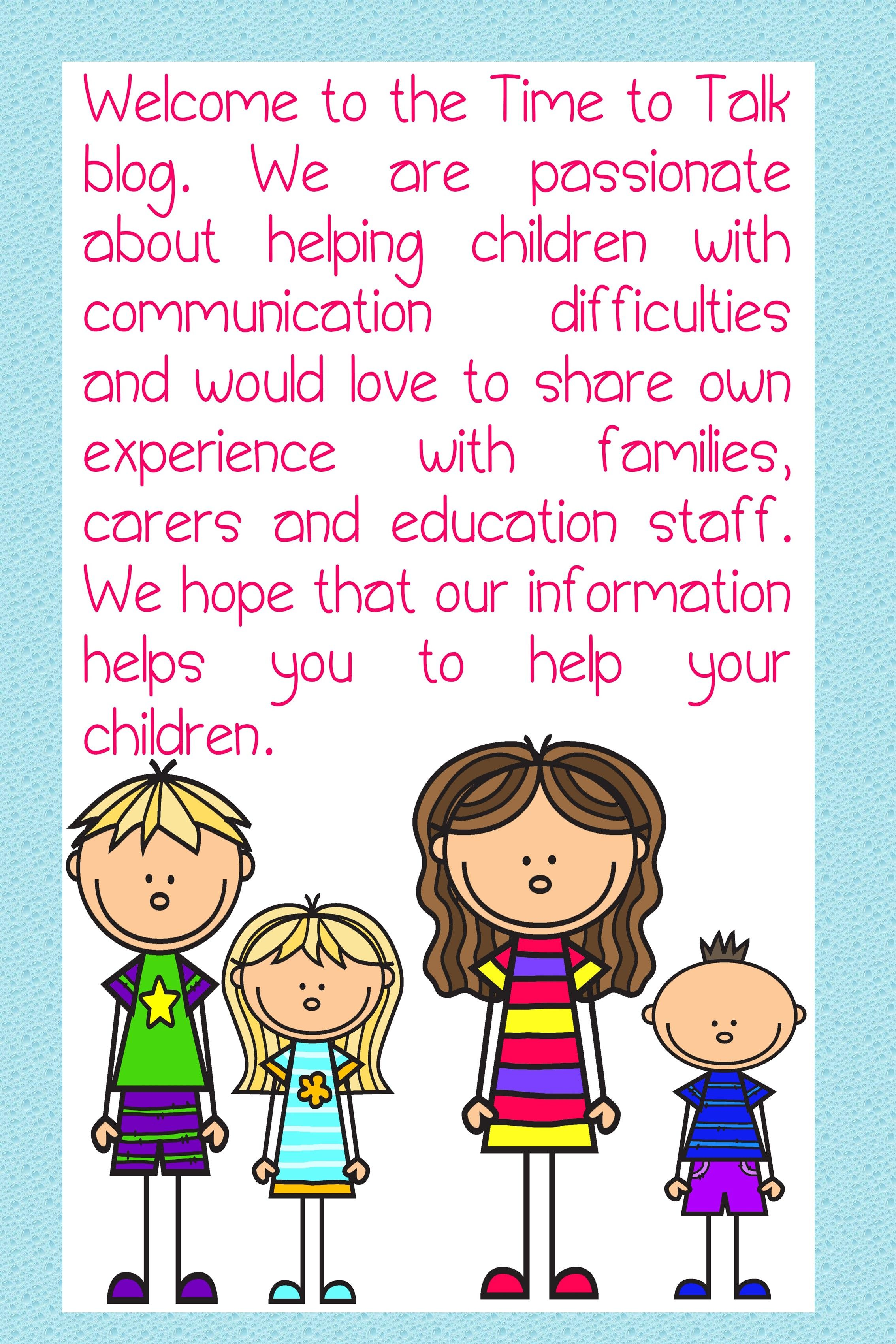 A speech therapy blog for parents carers and teachers