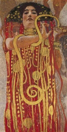 Hygieia (detail from Medicine)-metaltryk » Gustav Klimt »
