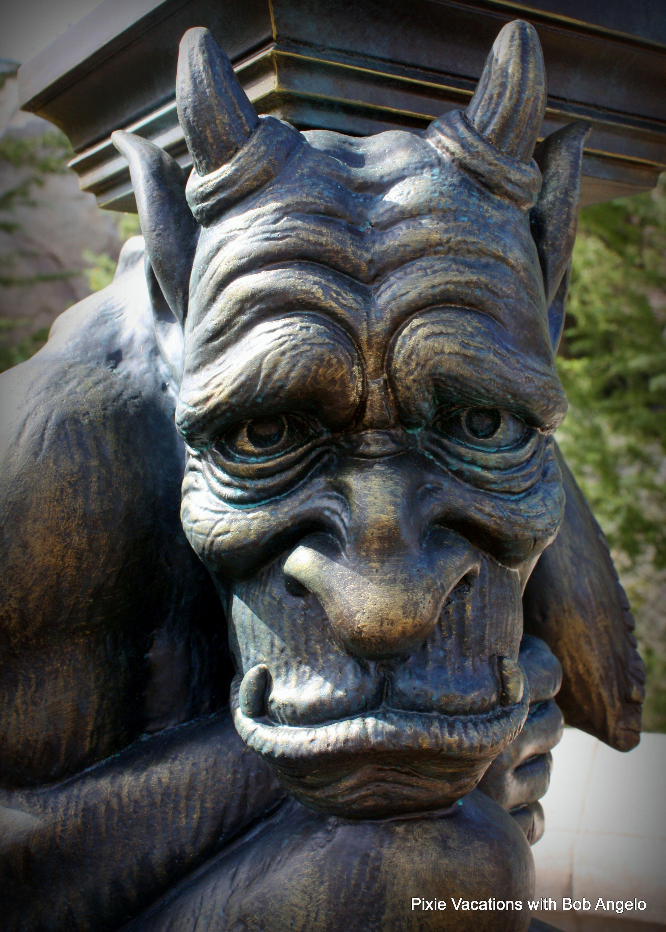 Lamp Post Gargoyle In Newfantasyland Disney Waltdisneyworld Beautyandthebeast Beourguest Gothic Gargoyles Gargoyles Statue