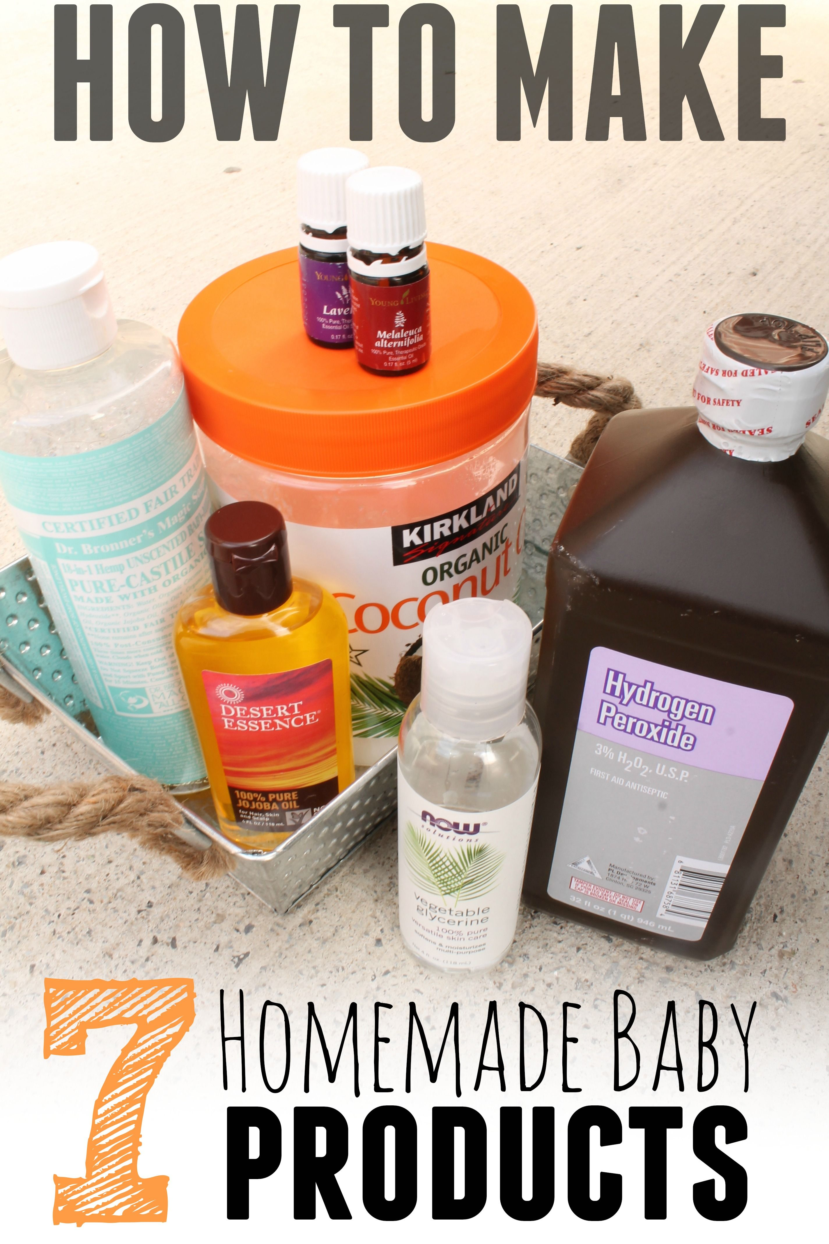 Homemade Baby Products 7 of them using only 7 total
