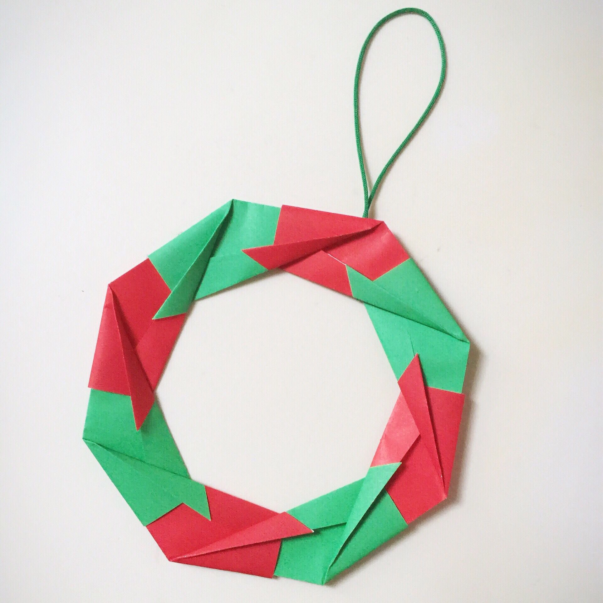 Origami wreath for Christmas | Christmas | Pinterest ... - photo#13