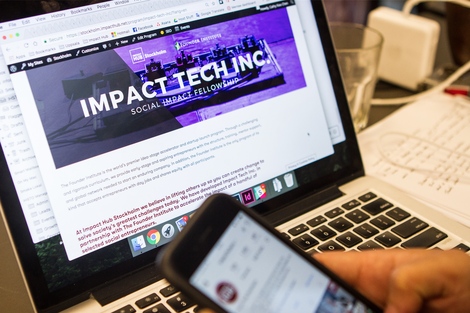 Working hard on putting together a program to accelerate one chosen startup that uses tech to create a positive impact on the world. In partnership between Impact Hub Stockholm and the Founder Institute.