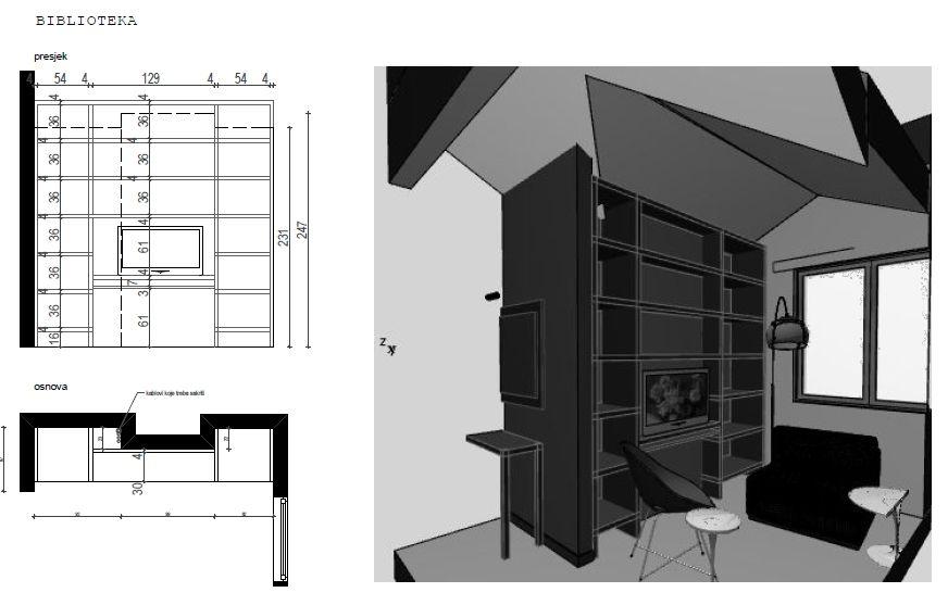 Bespoke Library - Custom Made Furniture Montenegro