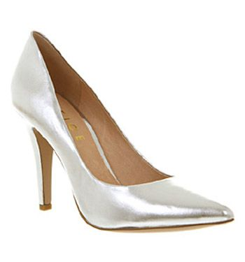 Office Silver Court Shoes With Images