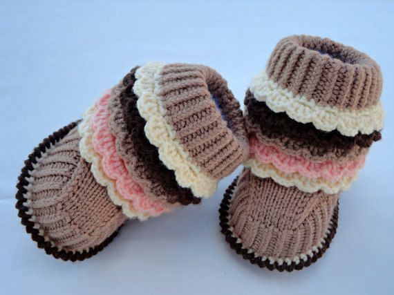 Crochet Pattern Knitting Baby Booties Infant Shoes Pattern Baby Uggs
