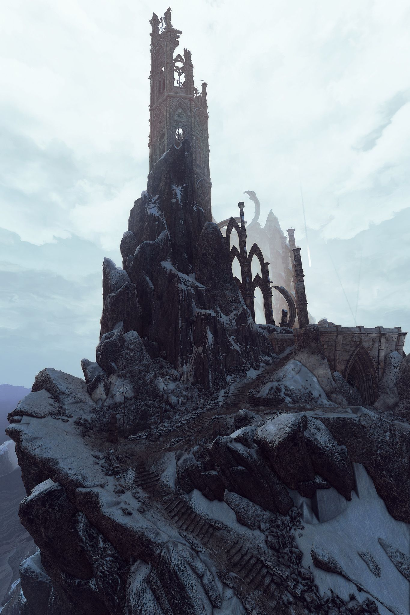 Tor Gvalch Ca Fantasy Landscape The Witcher Fantasy Setting
