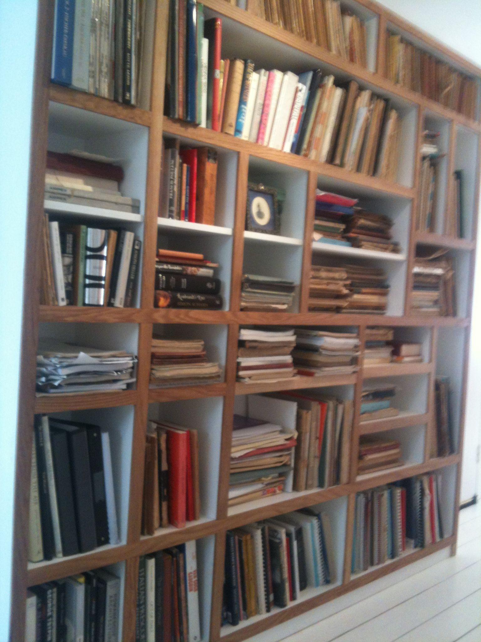 Irregular Bookshelves In Mr Mdf And European Oak