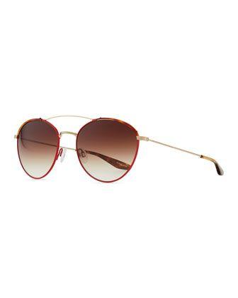 ca2179de2b96 Gamine Round Aviator Sunglasses